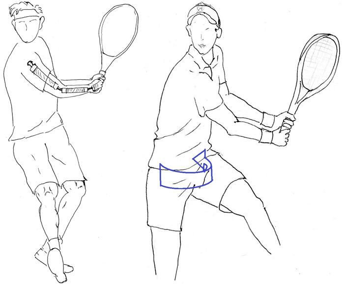 テニスのドリル