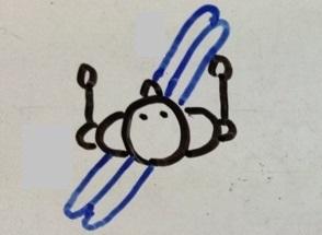 スキー 横滑り 姿勢