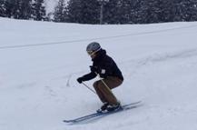 スキー 重心