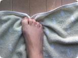 足のタオルギャザートレーニング