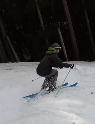 スキーの姿勢づくり
